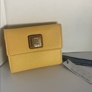 Dooney & Bourke Small leather Flap Wallet yellow